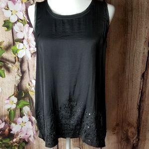 Simply Vera Wang  sleeveless black top size M